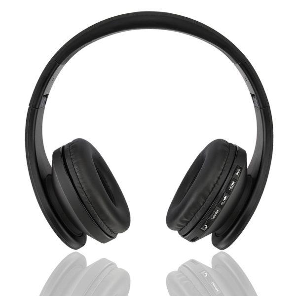 casque-sans-fils-Bluetooth-Ephrata-fonction-appel-Distance-10m-Radio-Batterie-intégrée-noire-vue-face