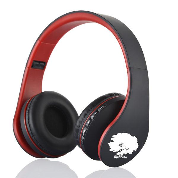 casque-sans-fils-Bluetooth-Ephrata-fonction-appel-Distance-10m-Radio-Batterie-intégrée-rouge-noire