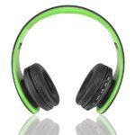 casque-sans-fils-Bluetooth-Ephrata-fonction-appel-Distance-10m-Radio-Batterie-intégrée-vert-face